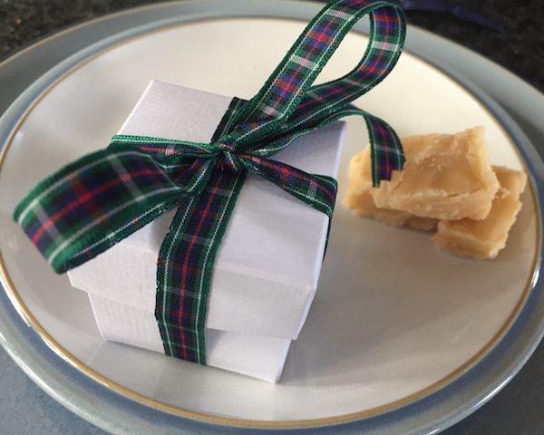 Scottish Tablet Wedding Favours