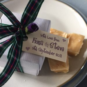 Edinburgh The Works Scottish Tablet Wedding Favour