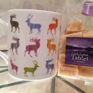 Colourful Stag Mug and 150g Homemade Scottish Tablet