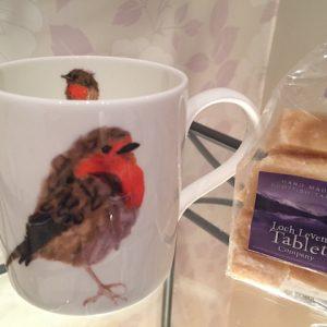 Christmas Robin Mug and 150g of Homemade Tablet