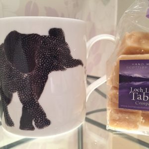 Chloe Garden Elephant Mug with 150g Homemade Scottish Tablet