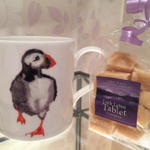 Puffin Mug with 150g of Homemade Scottish Tablet