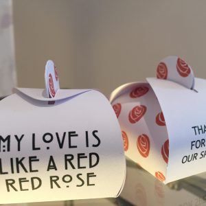 My Love is Like a Red Red Rose Wedding Favour