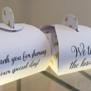 We Tied the Knot Personalised Wedding Favours