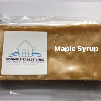 Photograph showing a bar of homemade maple syrup tablet min 100g