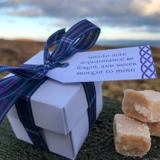 Burns Night Scottish Tablet Favour Box